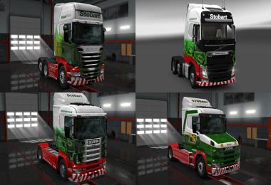 Stobart Group Truck Skins v1.0