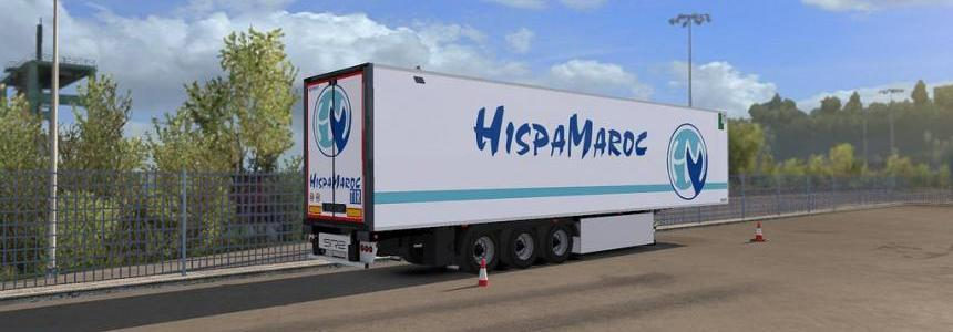 HispaMaroc For Lamberet Trailer For ETS2 1.33