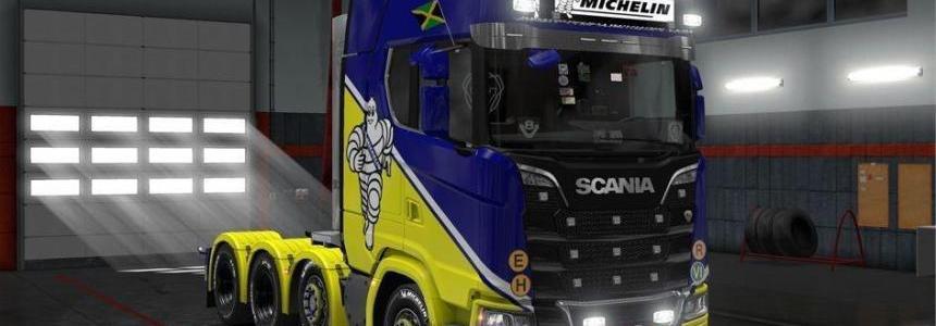 Addons Scania Next Gen Light Box Michelin Yellow-Blue v1.0