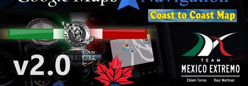 ATS - Google Maps Navigation Normal & Night Version Map Mods Addons v2.0