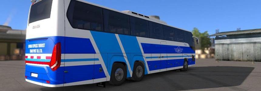 Bus Scania Touring - Skin Vip-Jett Jordan For ETS2 1.33