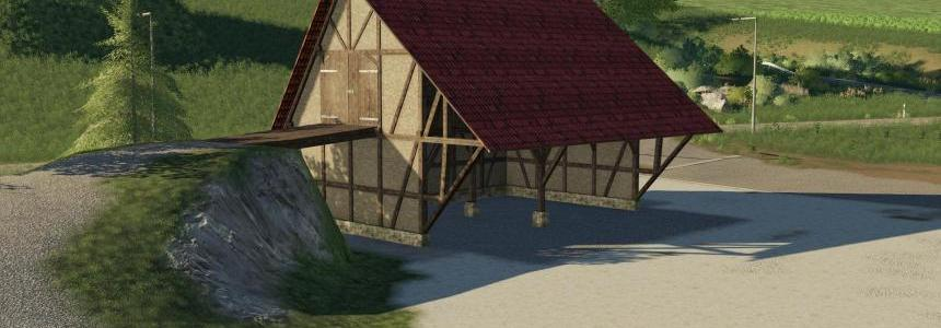 Placeable half-timbered barn v1.0