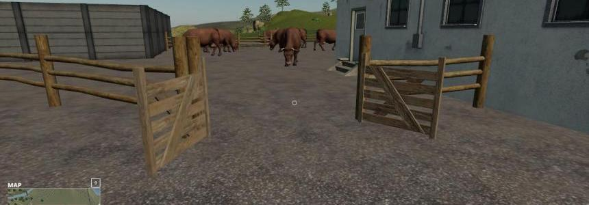 Placeable small cow yard v1.0
