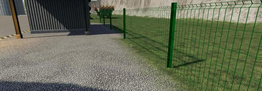 Plain metal fence can be placed v1.0
