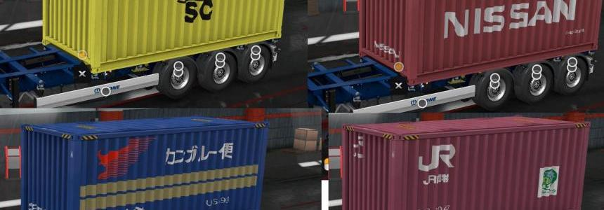 Real company container trailers 1.33