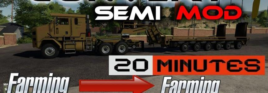 Semi truck template for modders v1.0