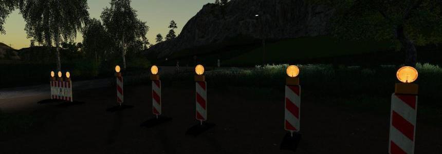 Strassen Sperre (Nachts Beleuchtet) v1.0