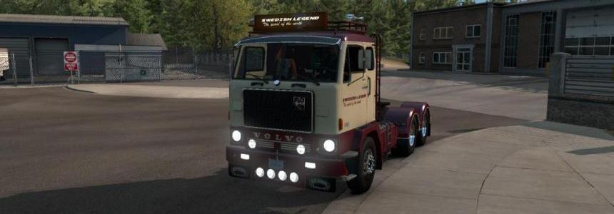Volvo F88 + Custom BDF trailer ownership for ATS 1.32.x