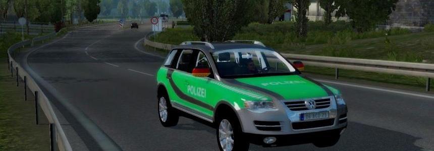 Vw Touareg Germany Police Car Skin v1.3