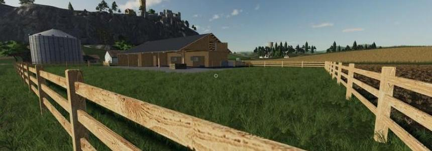 Wooden horse stable with dung v1.0.0.2