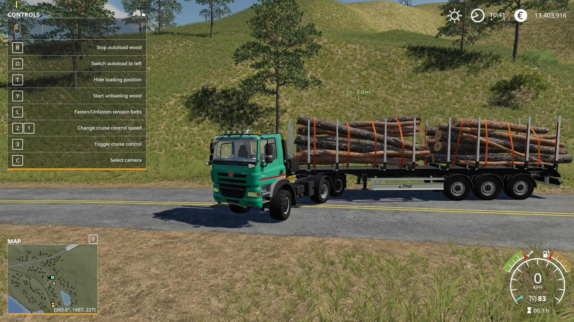 Fliegl Timber Runner With Autoload Wood v1 0 - Modhub us
