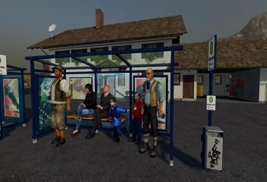 3 Bushaltestellen Platzierbar v1.0.0