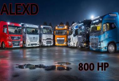 ALEXD 800 HP Engine All Trucks v1.0