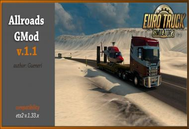 Allroads GMod (fixing Truck and Cabin physics) 1.33.x