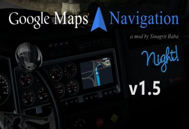 ATS - Google Maps Navigation Night Version v1.5