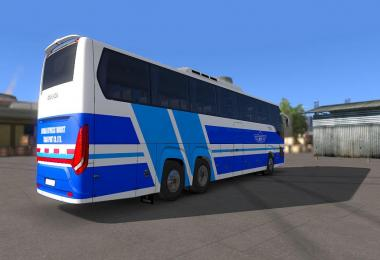 Bus Scania Touring - Skin Vip-Jett Jordan For ETS2 1.33