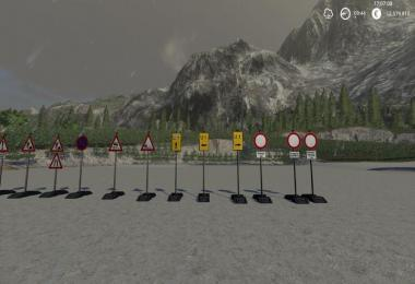 Construction site signs Pack Portable v1.0