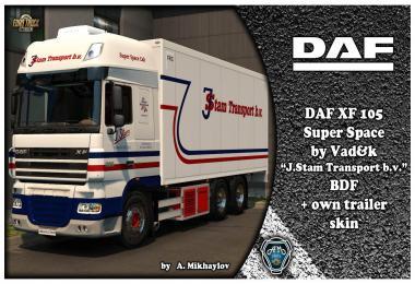 DAF XF 105 J.Stam Transport b.v. BDF Combo Skin 1.33