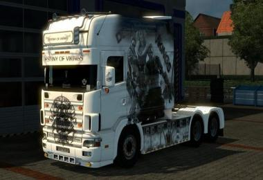 Scania 164L 580 V8 Longline Destiny Of Vikings Edition Model v1.0