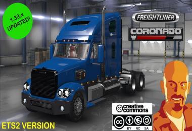 FREIGHTLINER CORONADO EDITED ETS2 1.33.x