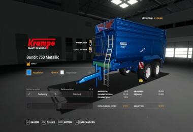 Krampe Bandit 750 - MetallicEdit 100000 liters v1.0