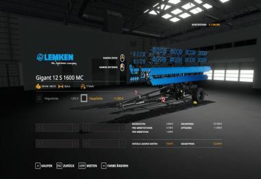 Lemken Heliodor12S - MultiColor v1.0