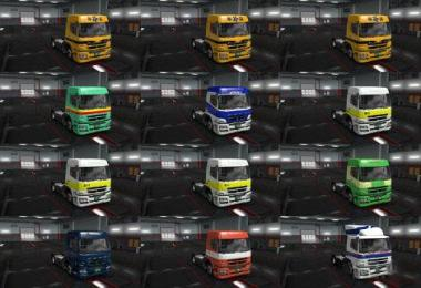 Mitsubishi Fuso SuperGreat V Japan Skin Packs v1.0