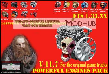Pack Powerful engines + gearboxes v11.7 for 1.33.x