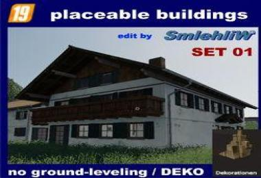 Placeable buildings DE set01 without ground-leveling v1.0.0.1