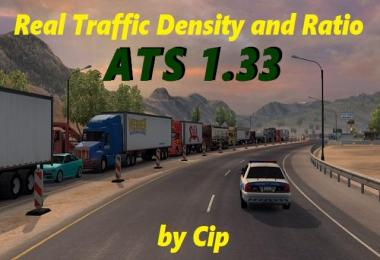 Real Traffic Density and Ratio ATS 1.33.a