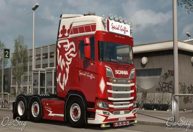 Special Griffin skin for Scania Next Gen 1.33