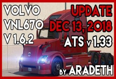 VOLVO VNL670 v1.6.2 by ARADETH (ATS 1.33)