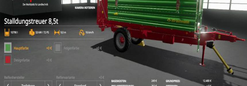 [FBM Team] manure spreader set 8.5t v1.0.0.0