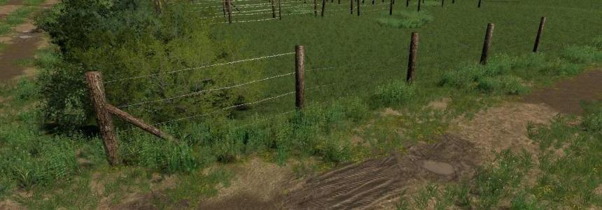 FS19 Barbed Wire Fence Kit v1.0.0.2