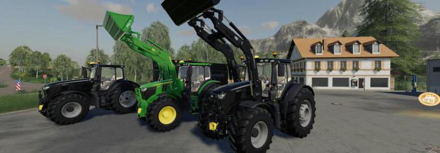 John Deere 6R + 643R Green + Black Pack v1.0