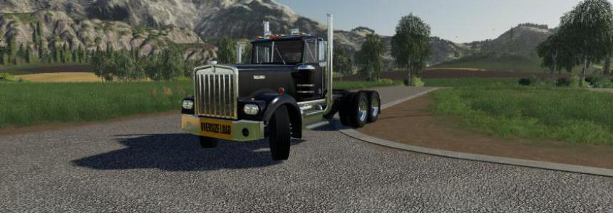 Kenworth W900A With Oversize load banner v1.0