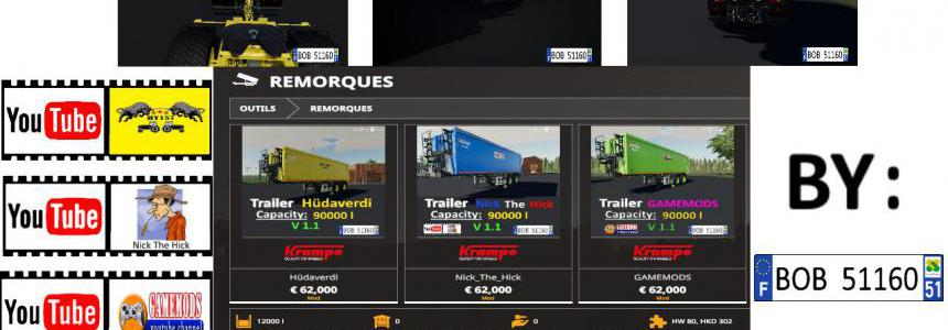 Packs 3 Trailers SPECIAL Youtubers v1.0.0.1