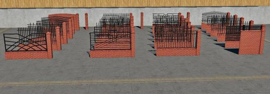 PLACEABLE Fences and Post Pack 2 v1.0