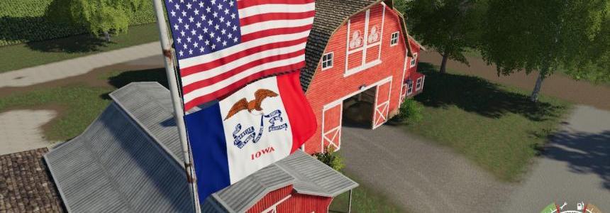 USA above Iowa Flag v1.0.0.0