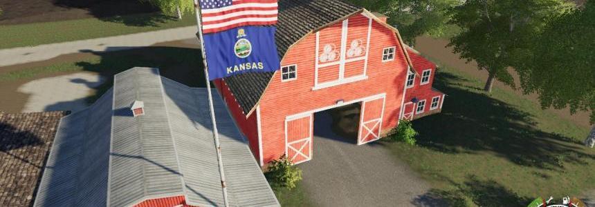 USA above Kansas State Flag V1.0.1