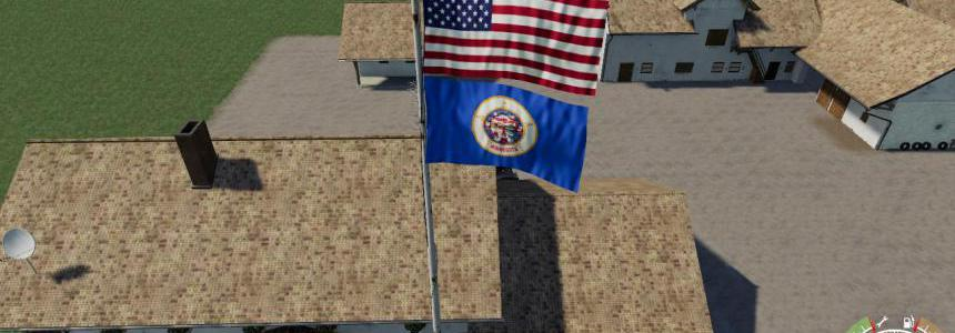 USA above Minnesota Flag v1.0.0.0