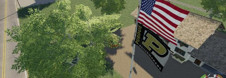 USA above Purdue Boilermaker Flag v1.0.0.0