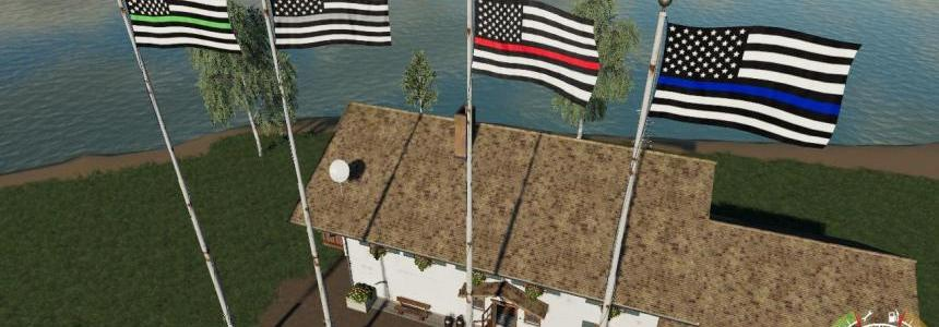 USA Thin Line Pack Flags v1.0.0