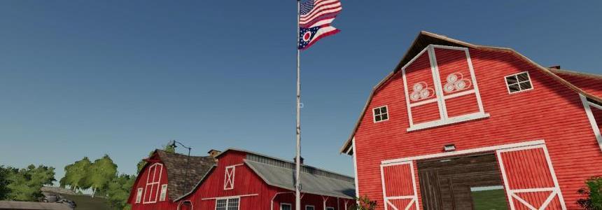 USA/Ohio Stae flag beneath v1.0.0