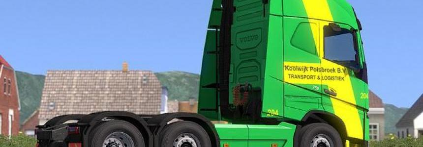 Volvo FH16 750 - Skin Koolwijk Logistics For ETS2 1.33.X 1.32