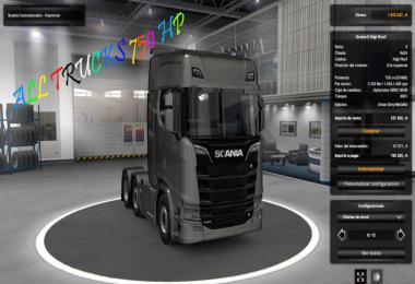 750 HP for all Trucks (MULTIPLAYER) 1.33.x