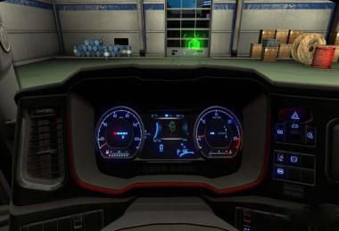 Cool Blue Dashboard Scania S 2016 1.33.x