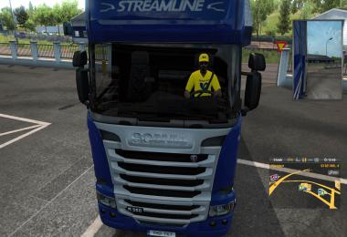 Czech Post driver in yellow 1.33.x