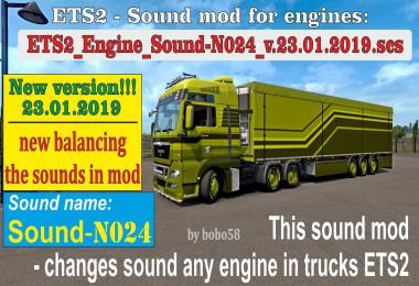 Engine Sound N024 in ETS2 1.33.x