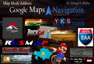 Google Maps Navigation Normal & Night Version Map Mods Addons v3